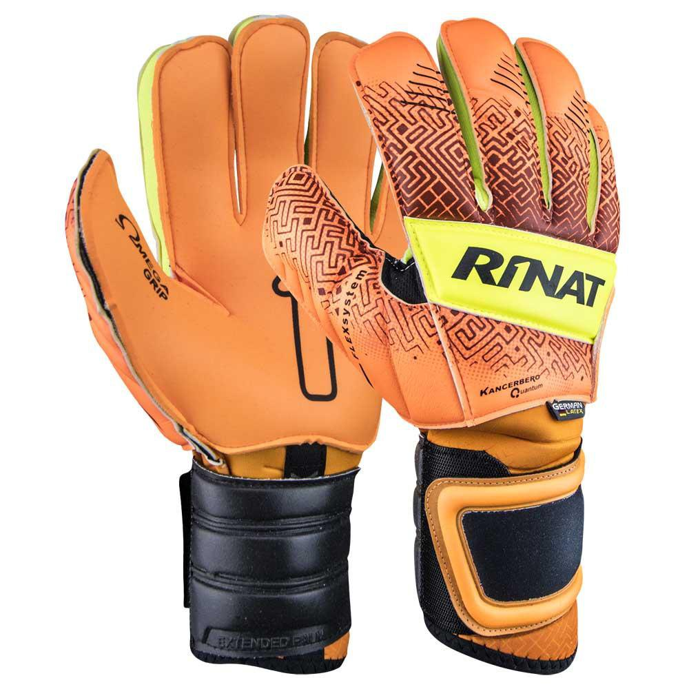 Rinat Kancerbero Quantum Pro Goalkeeper Gloves 7 Orange / Neon Yellow