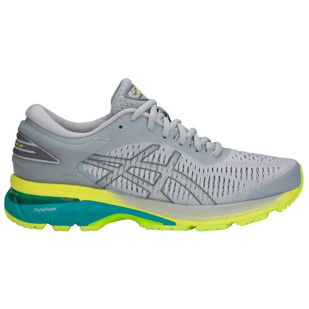 Asics Gel Kayano 25 EU 35 1/2 Mid Grey / Carbon / Lime
