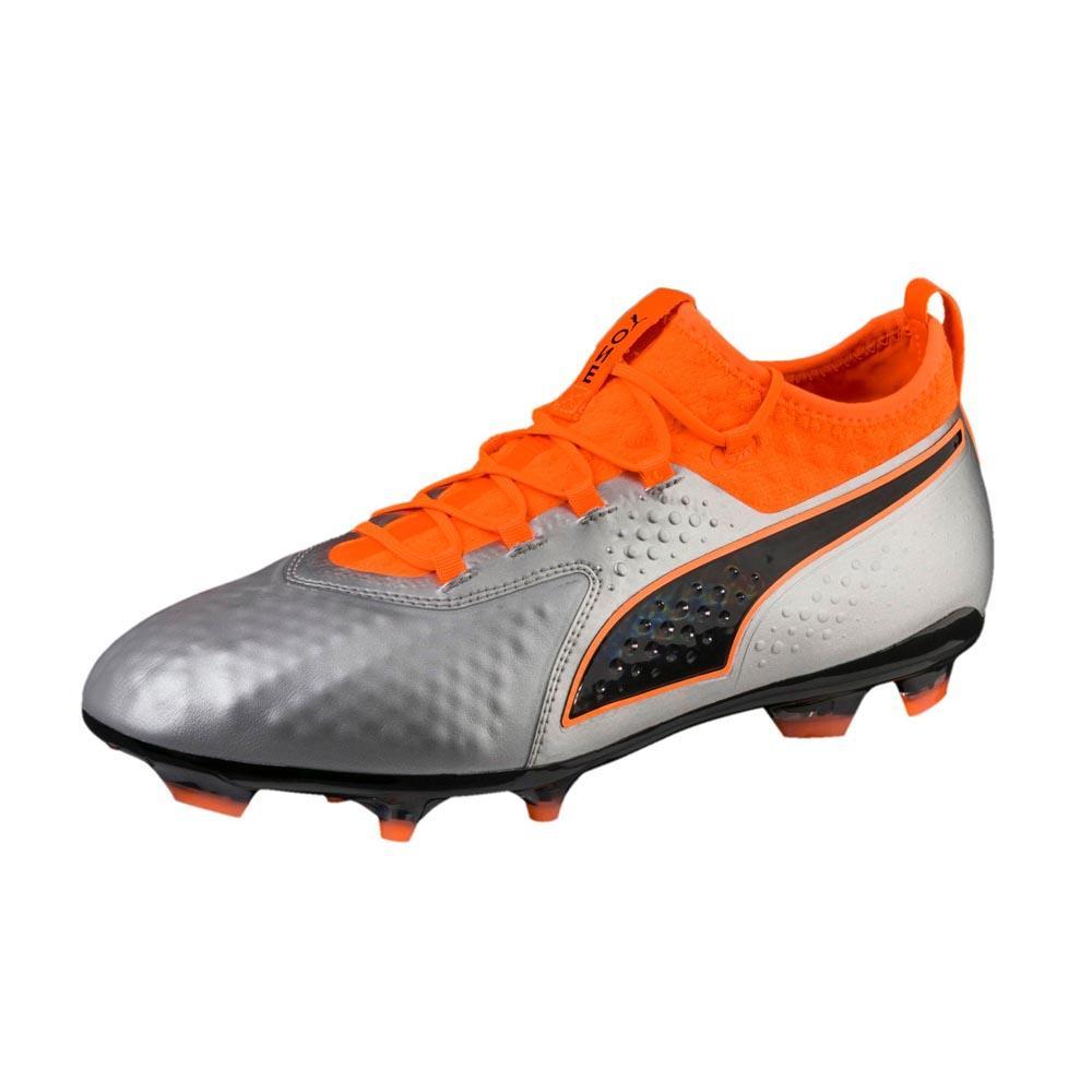 Puma One 2 Leather Ag Football Boots EU 41 Puma Silver / Shocking Orange