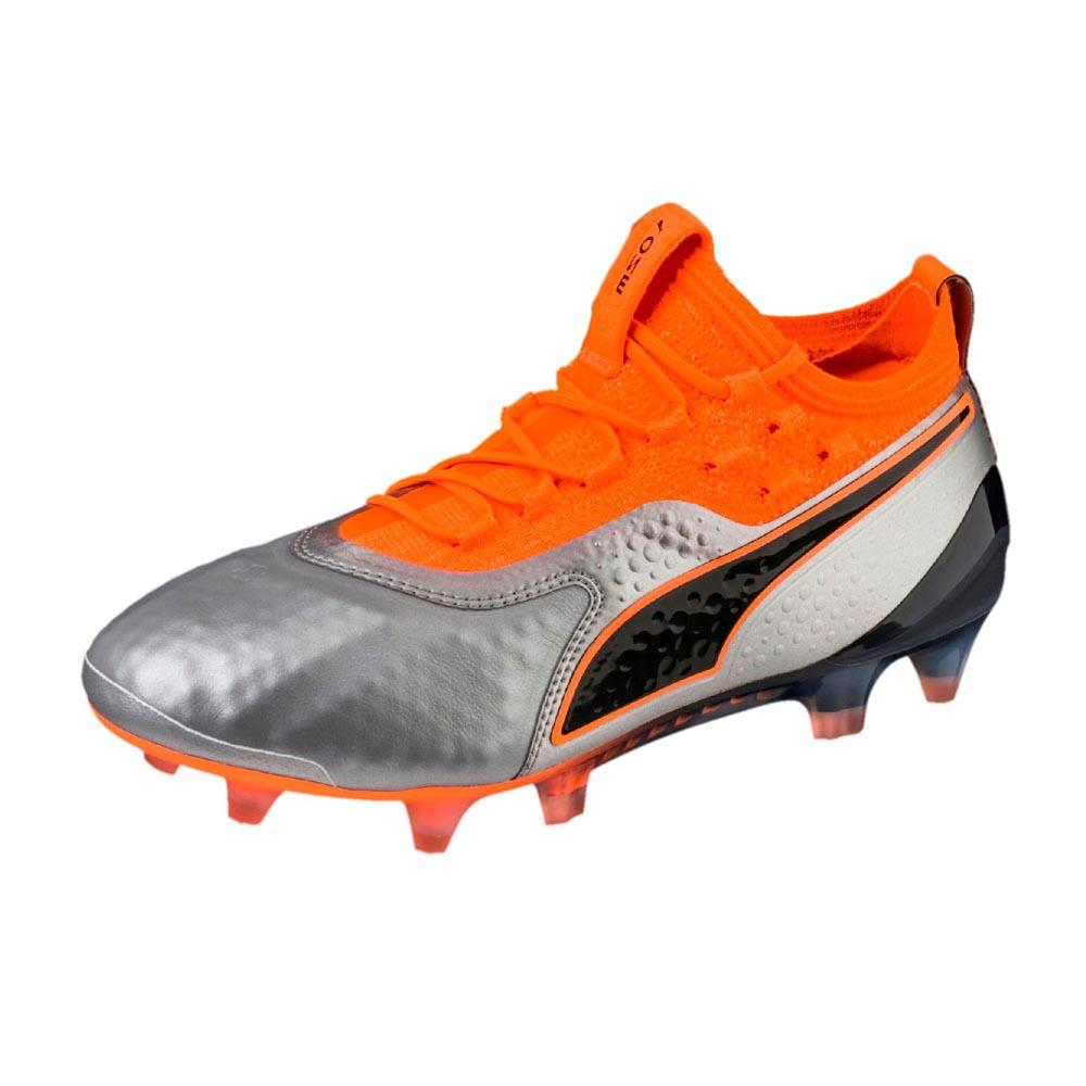 Puma One 1 Leather Fg/ag Football Boots EU 36 Puma Silver