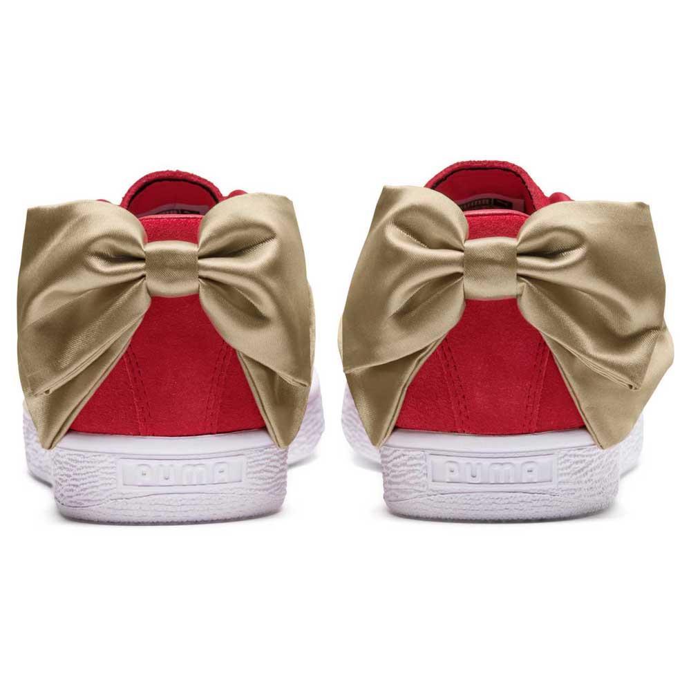 Puma Select Suede Bow Varsity Ribbon Baskets Red / Metall , Baskets Ribbon Puma select , mode 4b7424