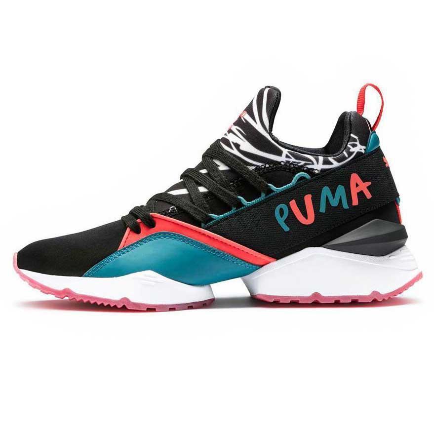 Puma Select Muse Maia Graphic Sm Puma Black Black Puma / Spiced C , Baskets Puma select f49892
