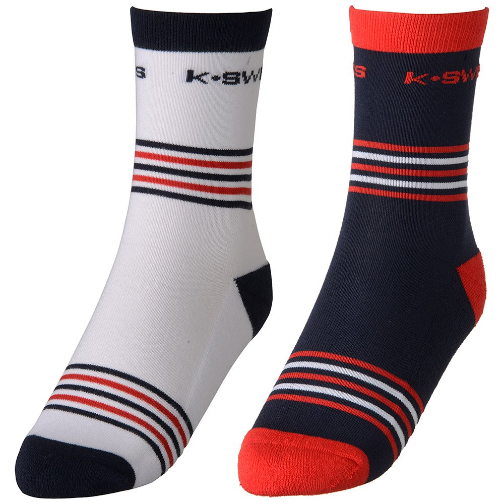 K-swiss Chaussettes Heritage 2 Paires EU 43-46 White / Navy / Red