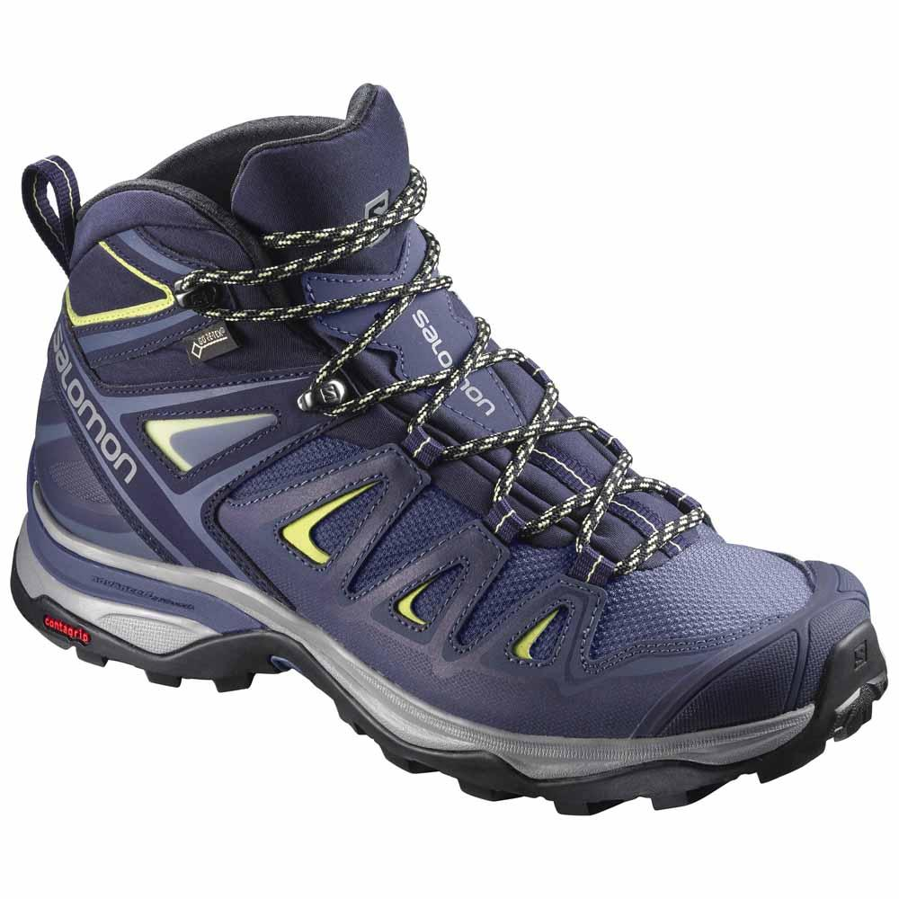 Salomon X Ultra 3 Mid Goretex Wide Fit EU 36 Crown Blue / Evening Blue / Sunny Lime