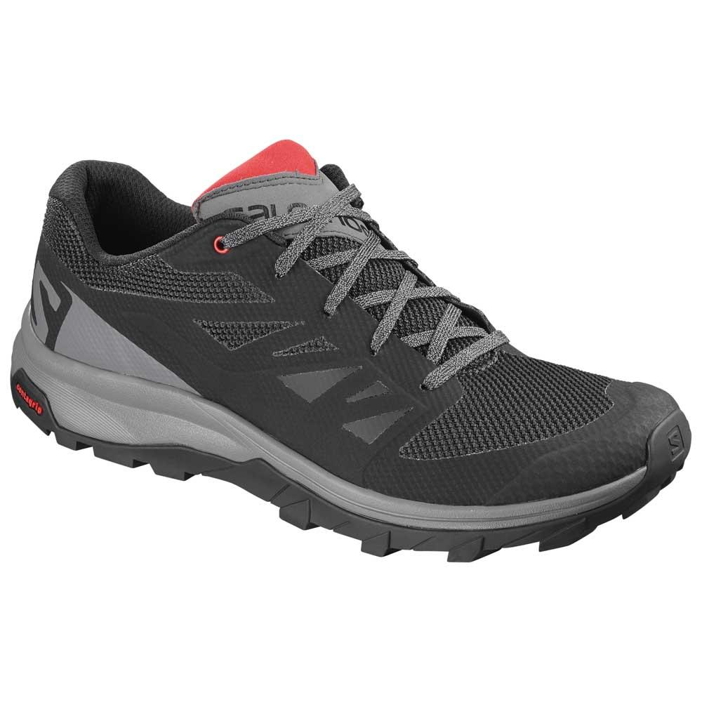 Salomon Chaussures Randonnée Outline EU 40 2/3 Black / Quiet Shade / High Risk Red