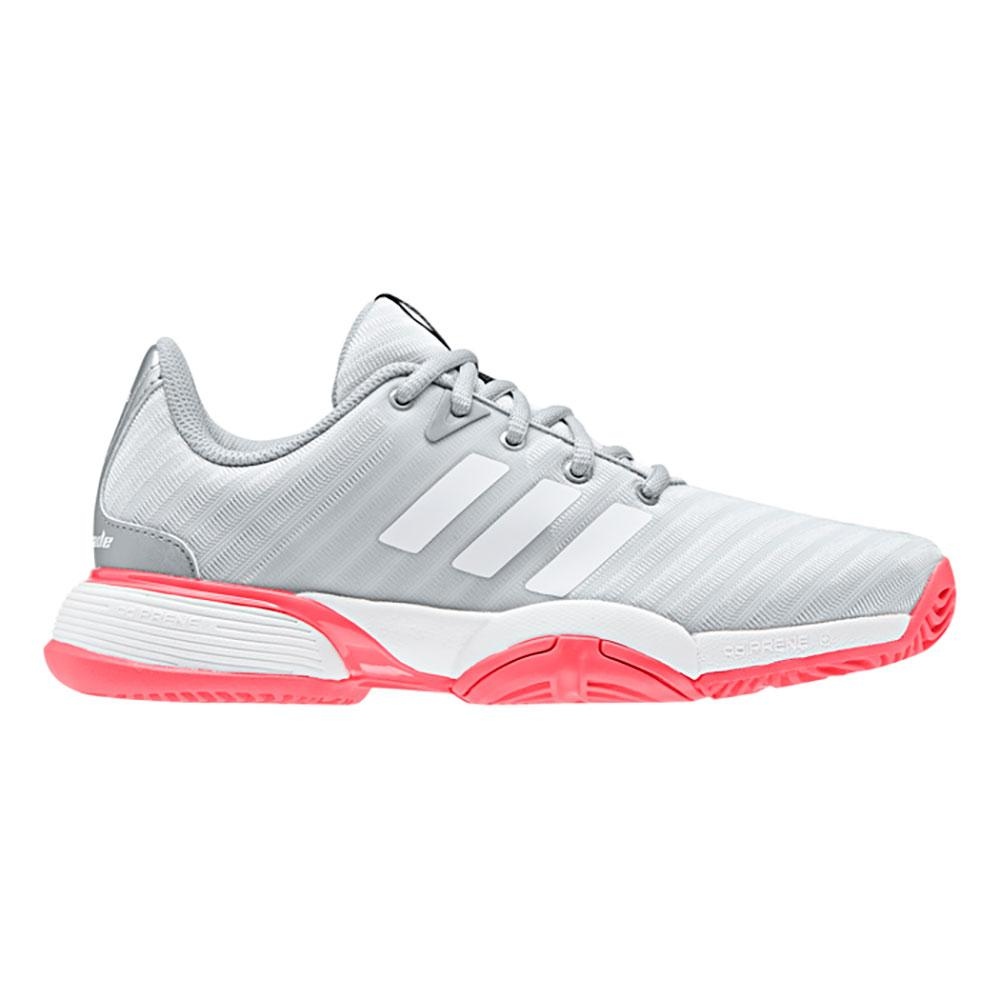 Adidas Barricade Xj EU 33 1/2 Matte Silver / Ftwr White / Flash Red
