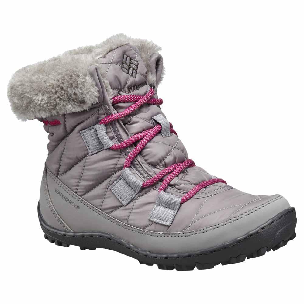 columbia-minx-shorty-omni-heat-waterproof-youth-eu-32-light-grey-deep-blush