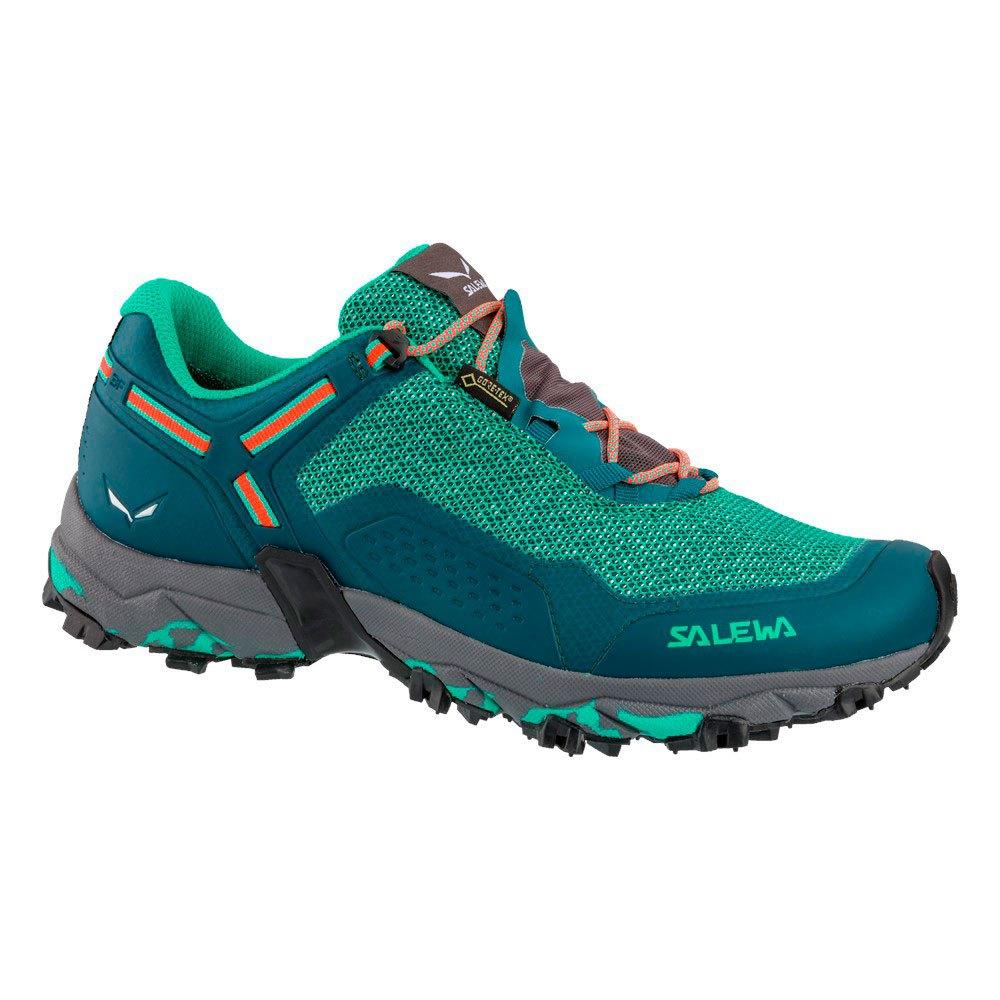 Salewa Speed Beat Goretex EU 36 1/2 Shaded Spruce / Fluo Coral