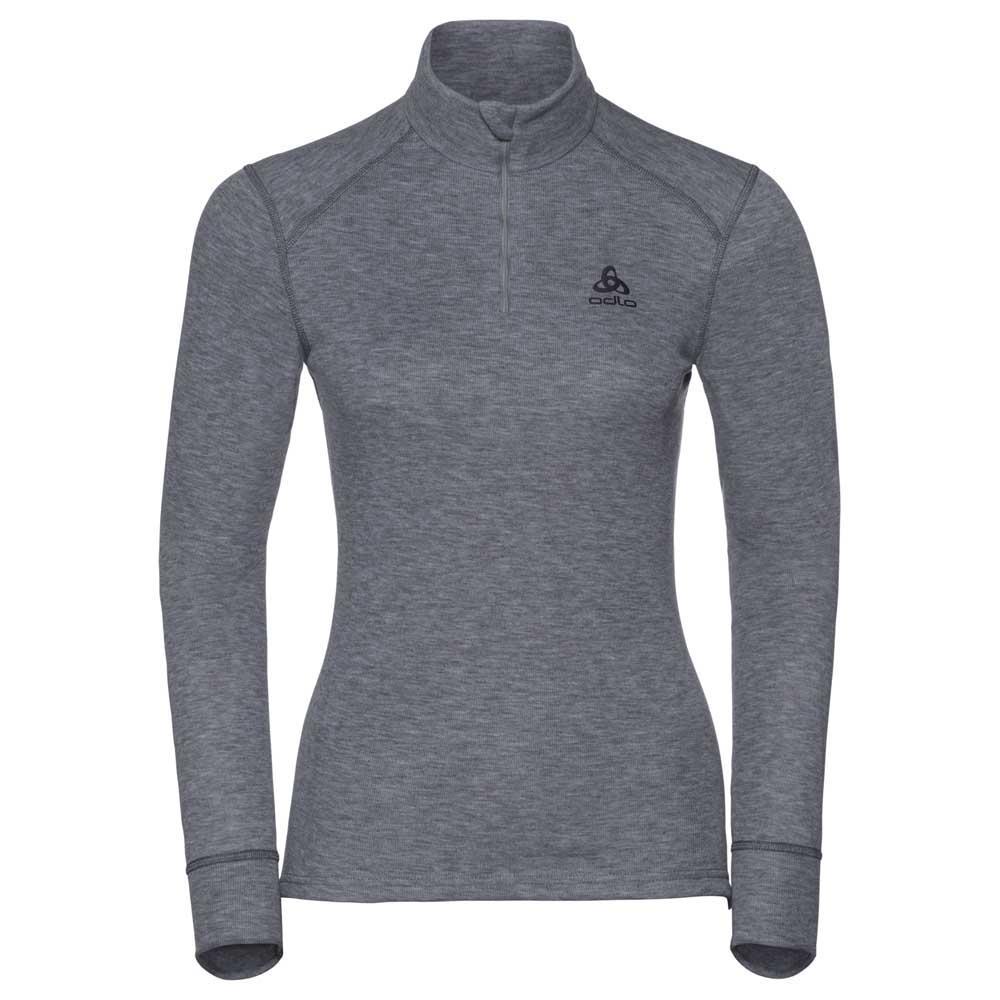 Odlo Shirt Turtle Neck 1/2 Zip Warm XS Grey Melange