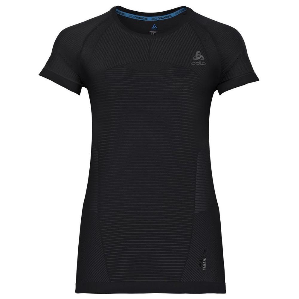 Odlo T-shirt Manche Courte Ceramicool Motion XL Black / Odlo Graphite Grey