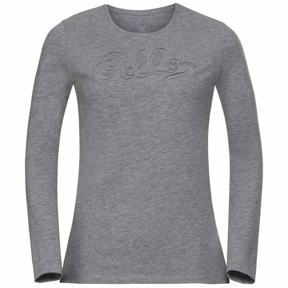 Odlo Eva Bl T-shirt Manche Longue XS Grey Melange