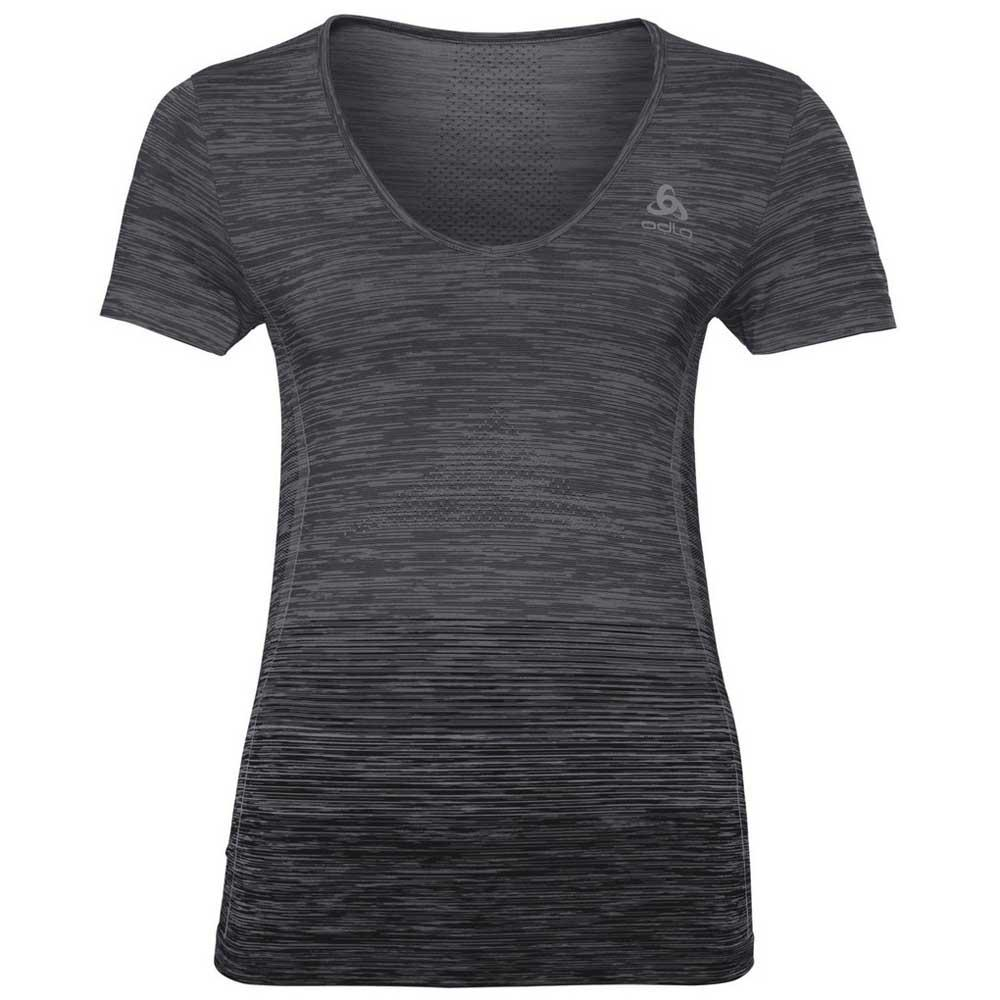 Odlo Maia Seamless Bl Top S Odlo Steel Grey / Black