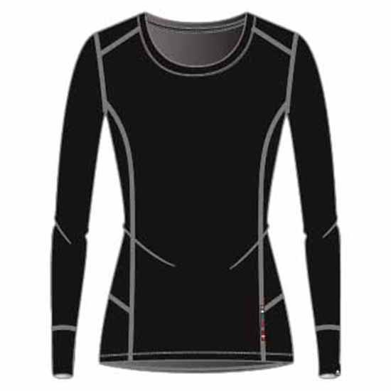 Odlo Natural 100% Merino Warm Suw Top XL Black / Black