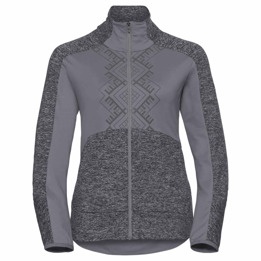 Odlo Skadi Light Black Full Zip Odlo Concrete Grey / Black Light Melange , Polaires Odlo b72f38