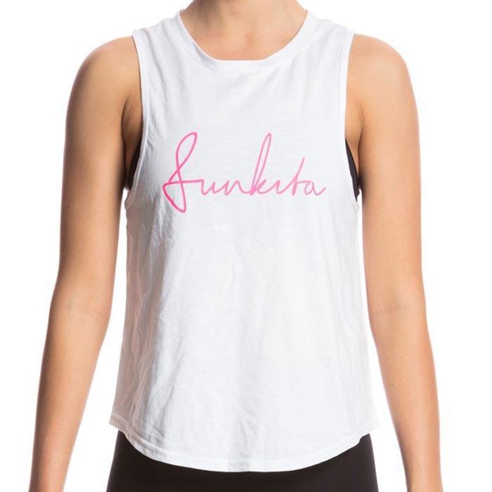 Funkita T-shirt Sans Manches Hank The 10 White Scribble