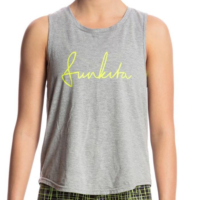 Funkita Hank The Tank Top 10 Grey Scribble