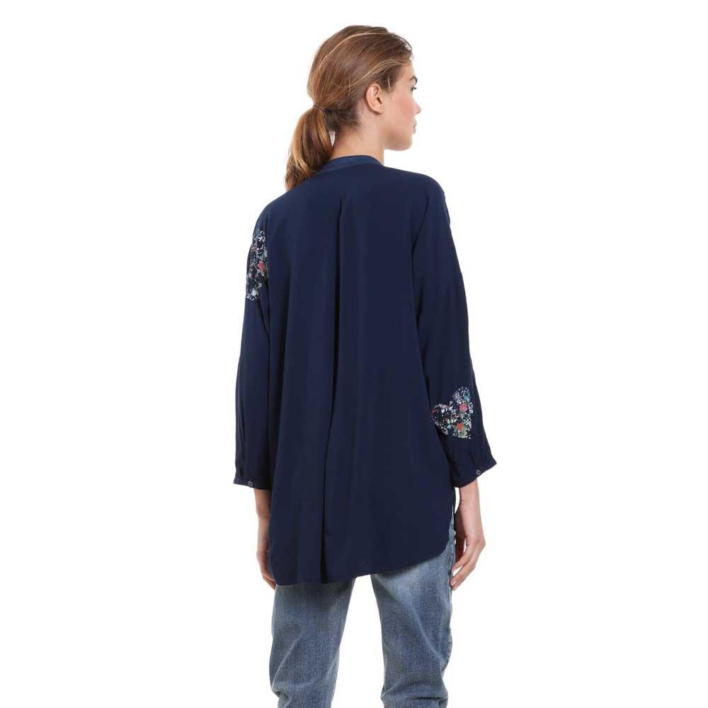 Desigual Chemises Temis Navy Femme Chemisiers Vêtements Et Mode PBBH8qIr