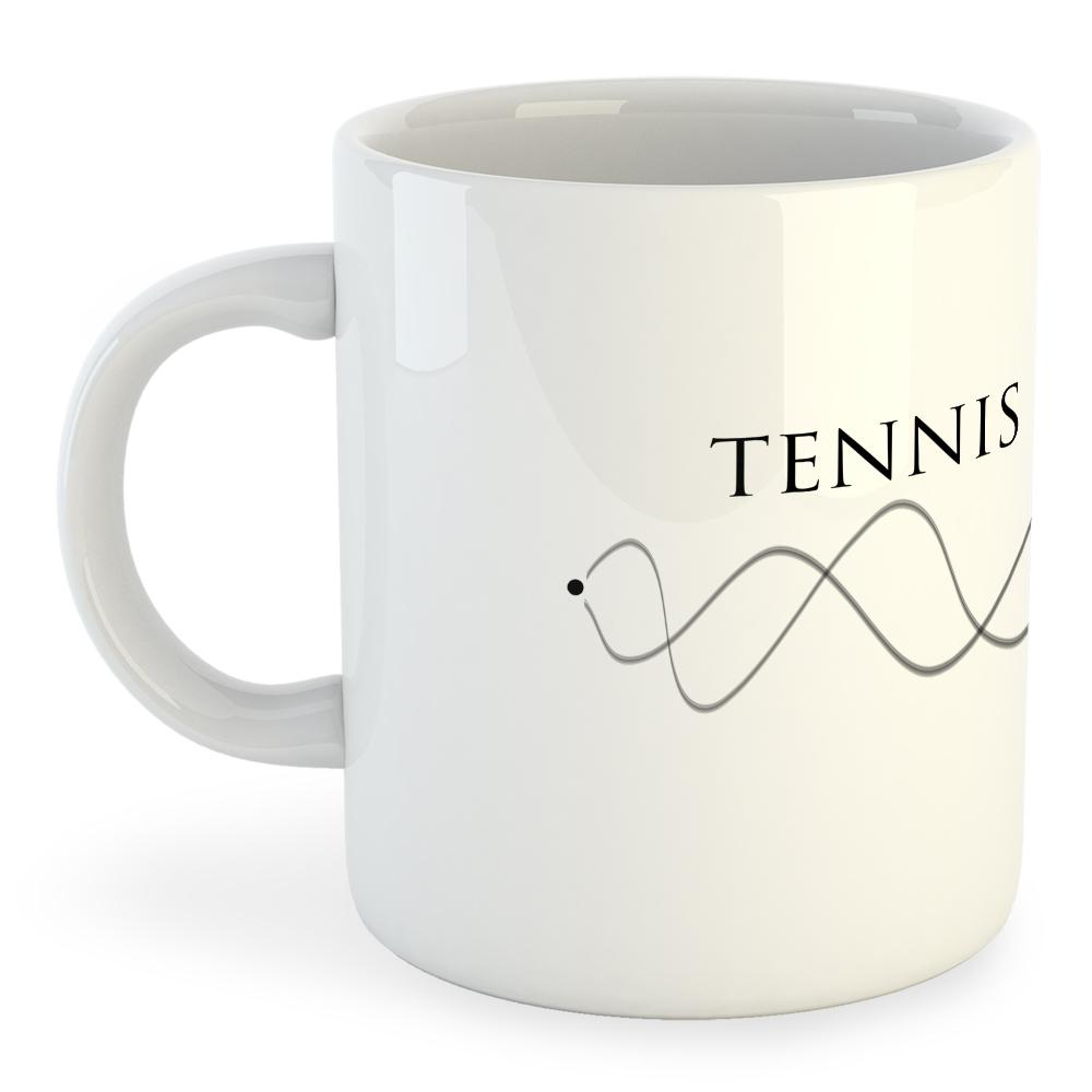Kruskis Mug Tennis Dna 325ml 325 ml (11 oz) White