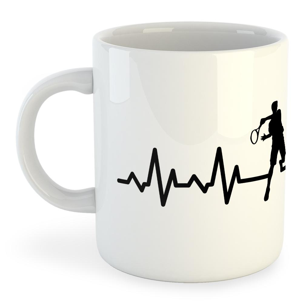 Kruskis Mug Tennis Heartbeat 325ml 325 ml (11 oz) White