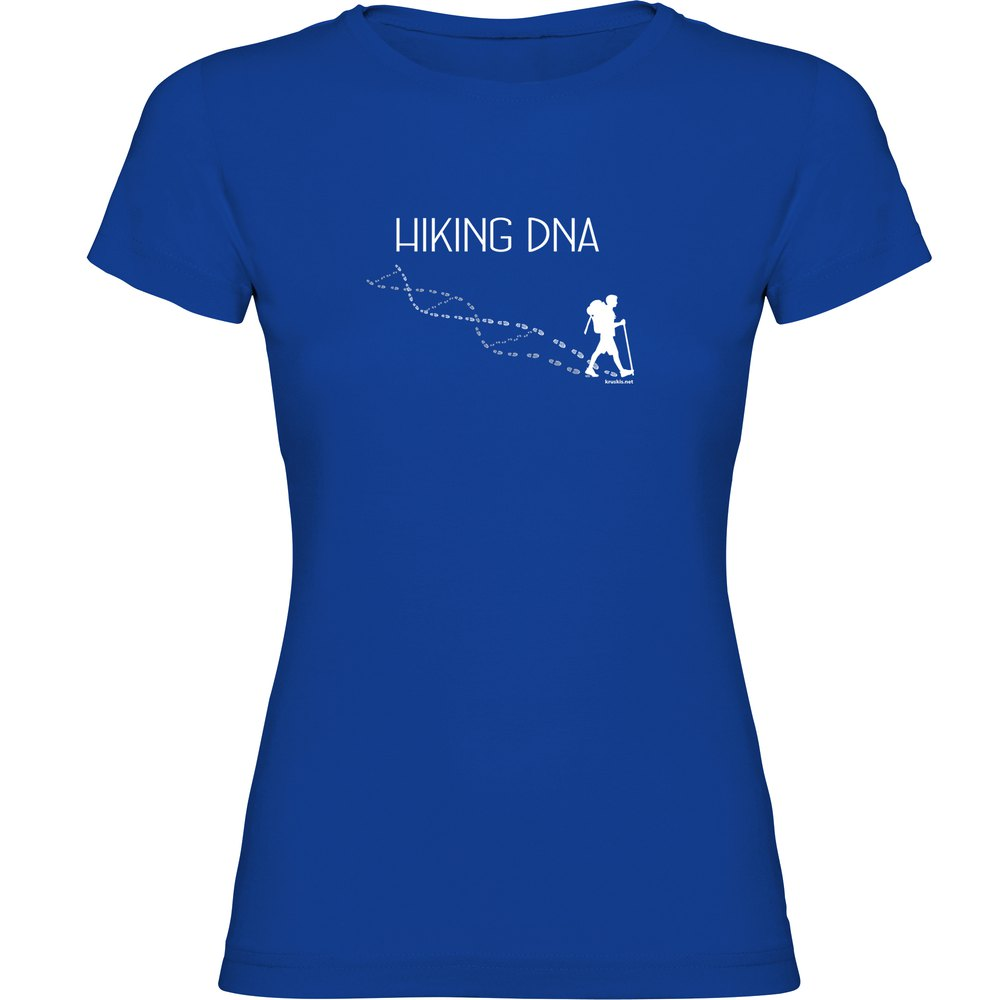 Kruskis T-shirt Manche Courte Hikking Dna Short Sleeve T-shirt S Royal Blue