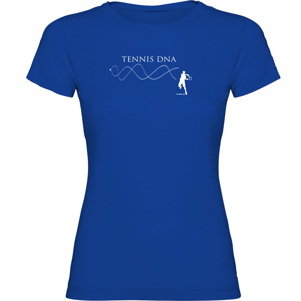Kruskis Tennis Dna Short Sleeve T-shirt S Royal Blue
