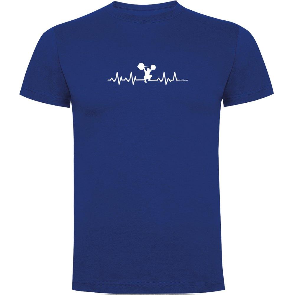 Kruskis T-shirt Manche Courte Fitness Heartbeat Short Sleeve T-shirt S Royal Blue