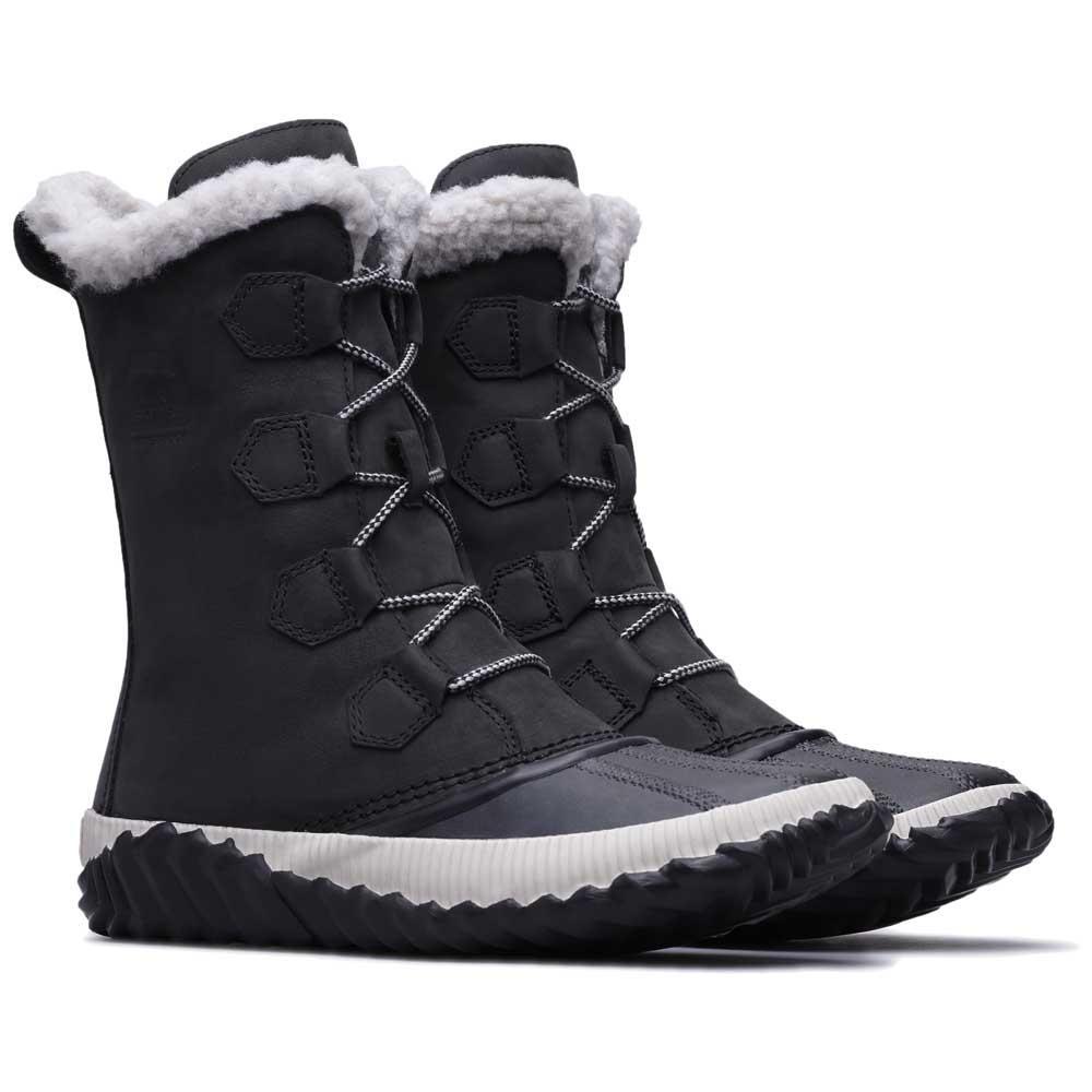 Détails sur Sorel Out N About Plus Tall Noir T65495 Chaussures Après Ski Femme Noir Sorel