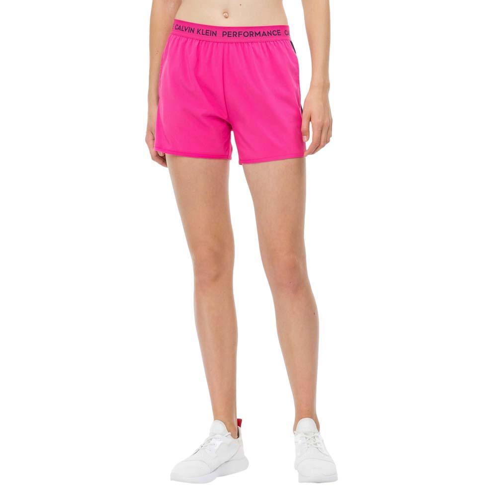 Calvin Klein Performance Logo Waistband Gym Short S Pink Yarrow