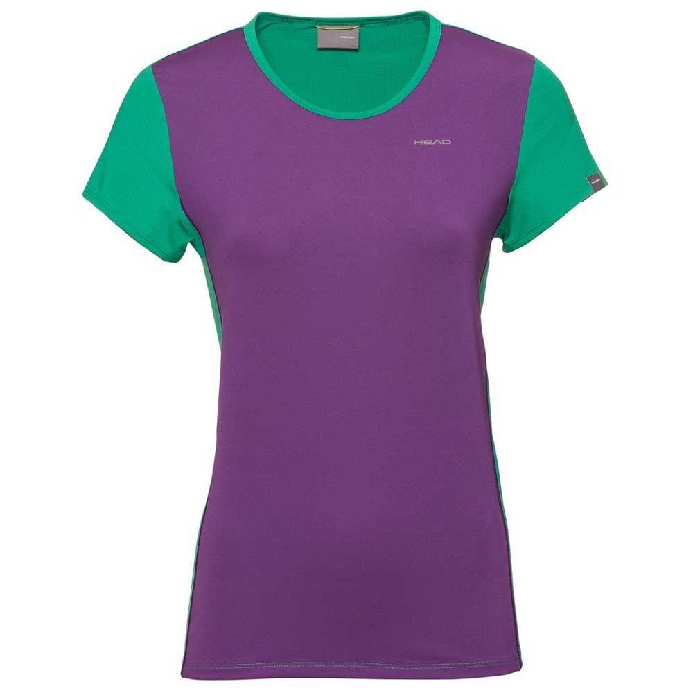 Head Racket T-shirt Manche Courte Mia 140 cm Jade Green / Violet
