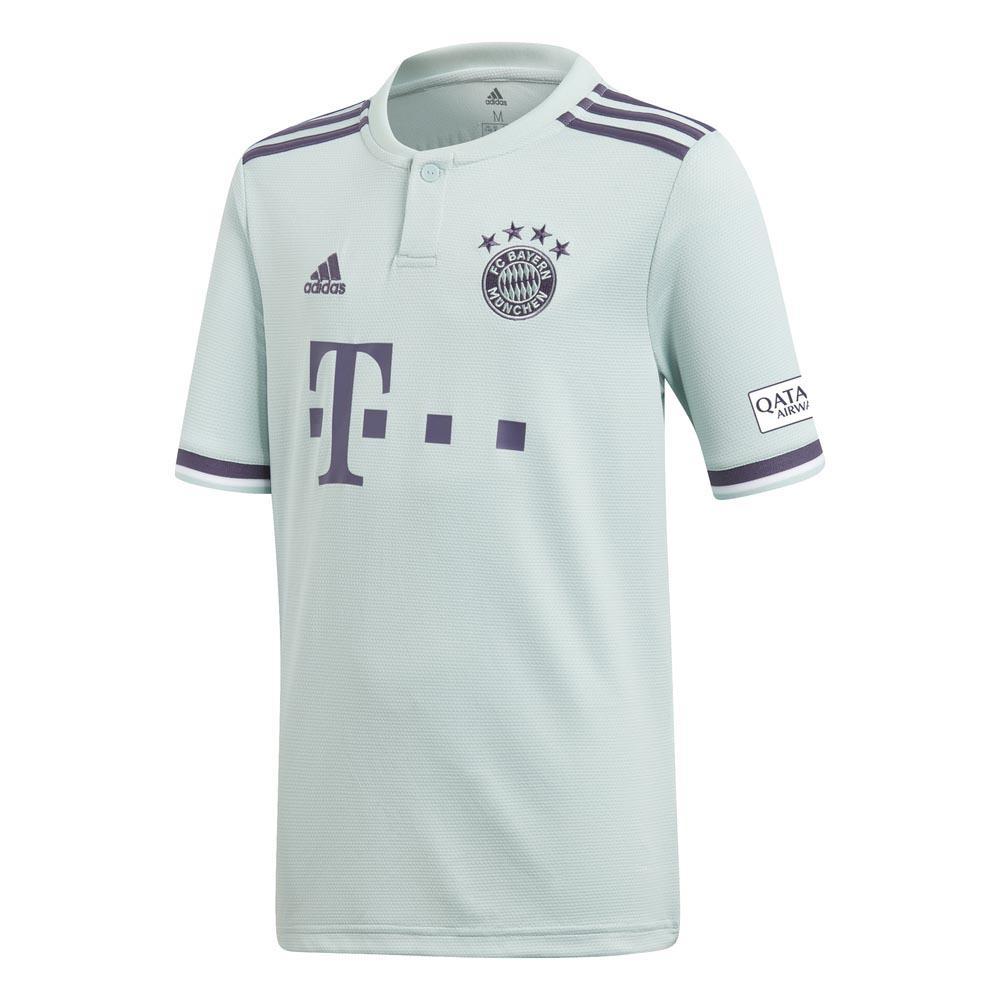 Adidas Fc Bayern Munich Extérieur 18/19 Junior 140 Ash Green / Trace Purple / White