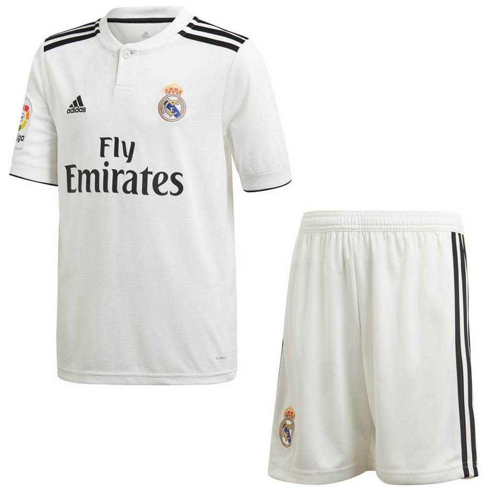 Adidas Ensemble Real Madrid Domicile Junior 18/19 128 cm Core Blue / Black