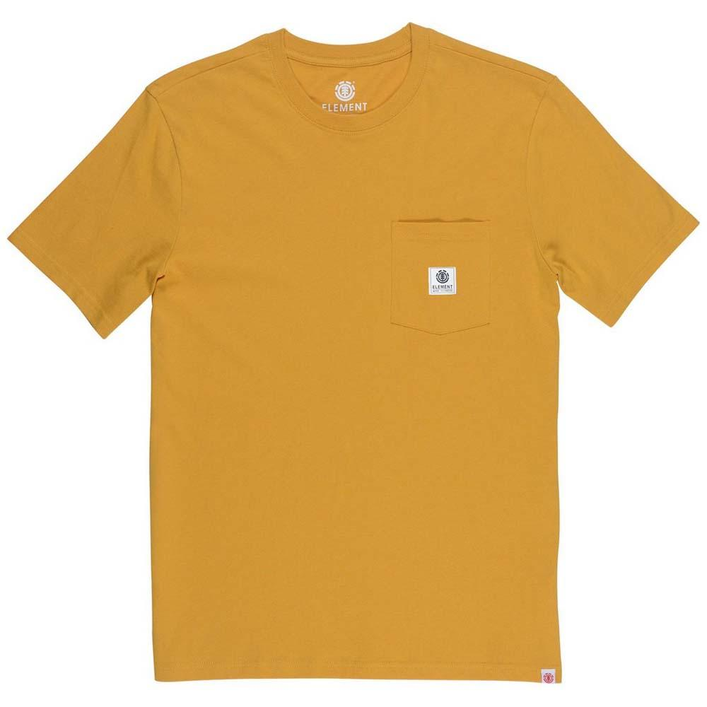 Element Basic Pocket Label Mineral Jaune , T-Shirts Element , , , sports 25236d