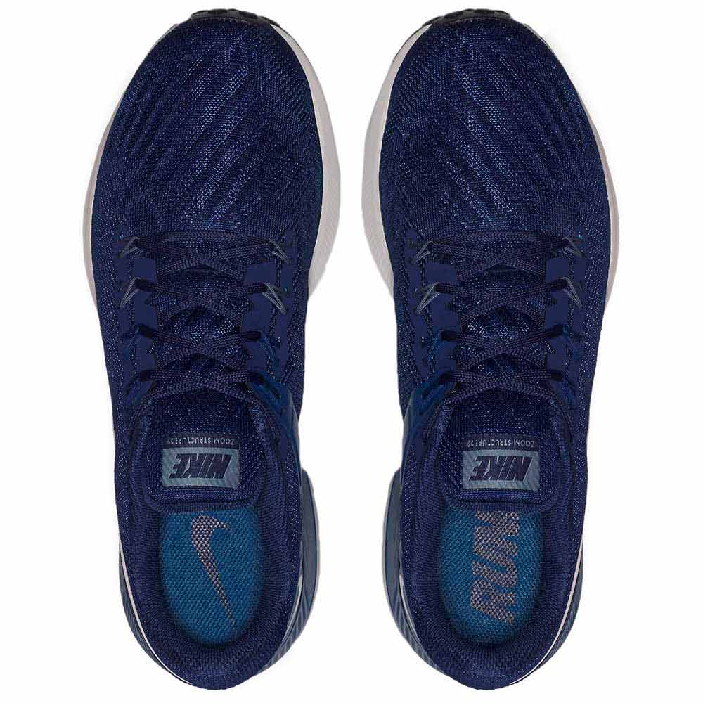 Detalles de Nike Air Zoom Structure 22 Azul T12467 Zapatillas Running Azul Nike , running