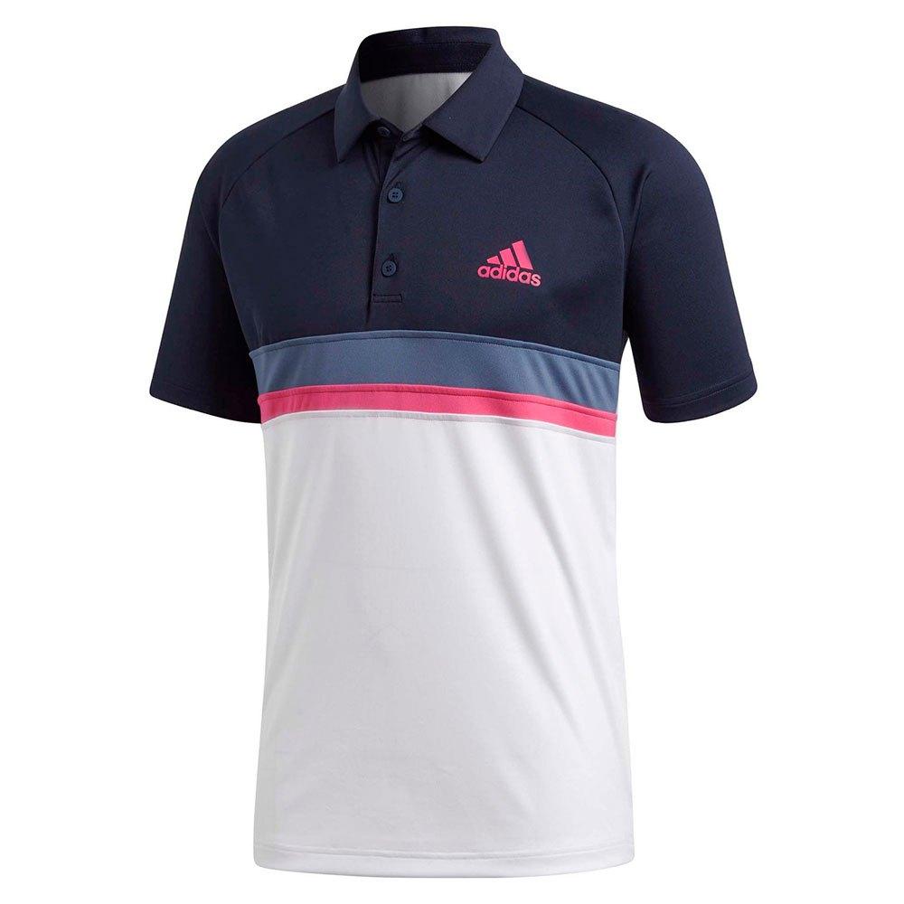 Adidas Polo Manche Courte Club Colorblock S Legend Ink