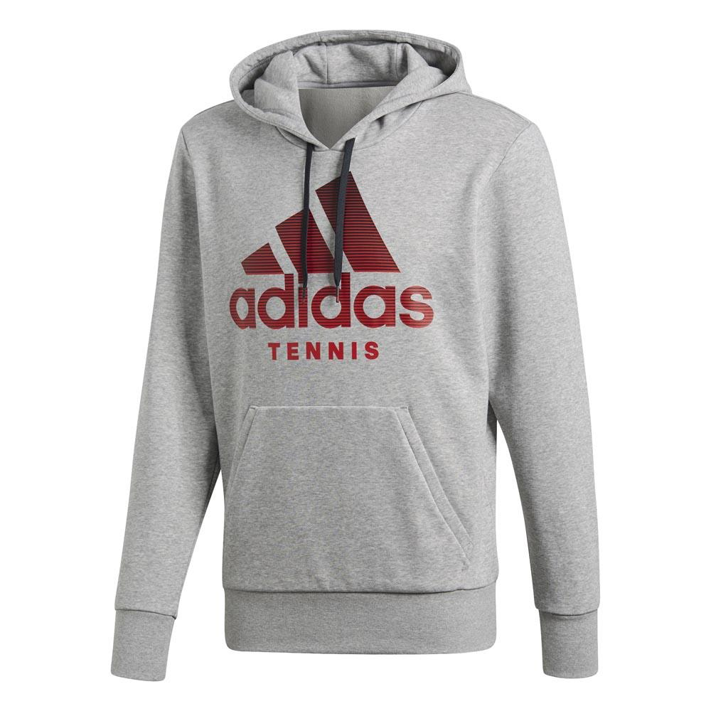 Adidas Category Graphic Hoody XXL Medium Grey Heather