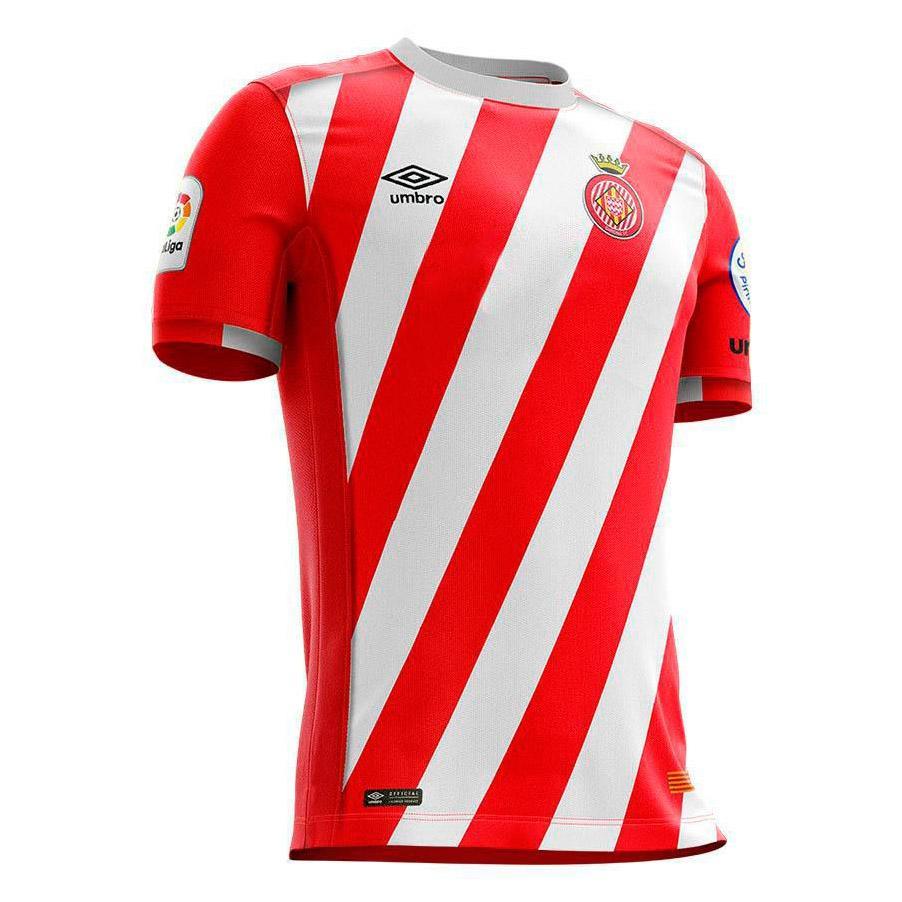 Umbro Girona Fc Home 18/19 Junior 14 Years Red / White