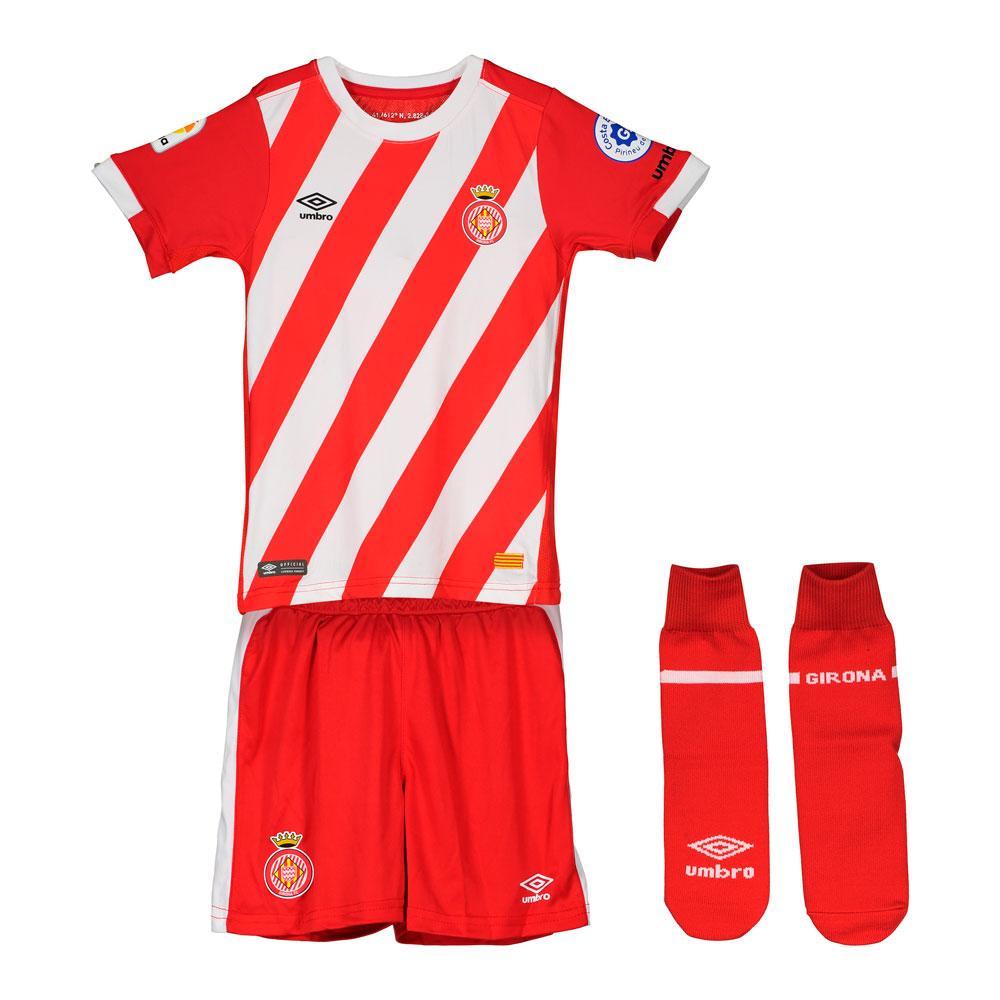 Umbro Girona Fc Home Box 18/19 Junior 24 Months-3 Years Red / White