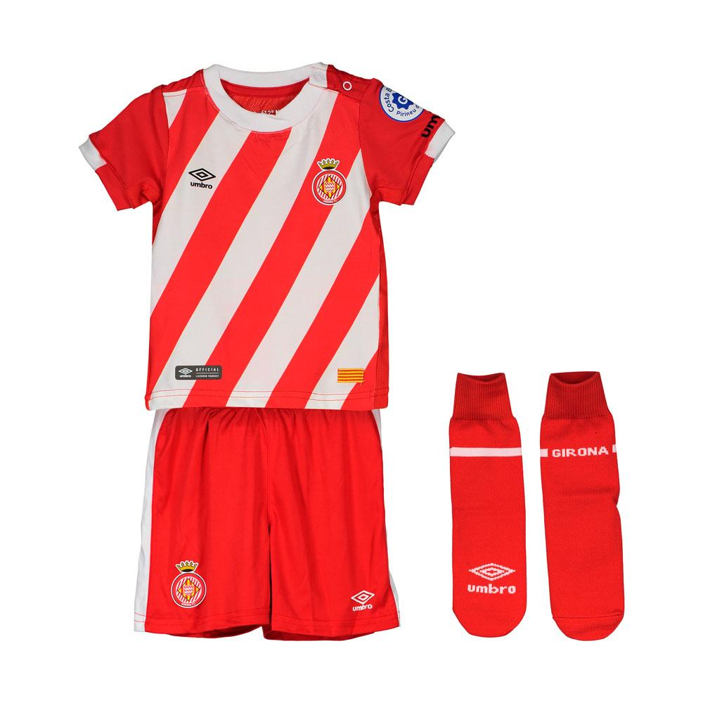 Umbro Girona Fc Home Box 18/19 Junior 18-24 Months Red / White