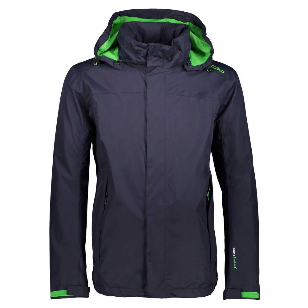 Cmp Zip Hood Jacket XXXXL B.Blue / Menta