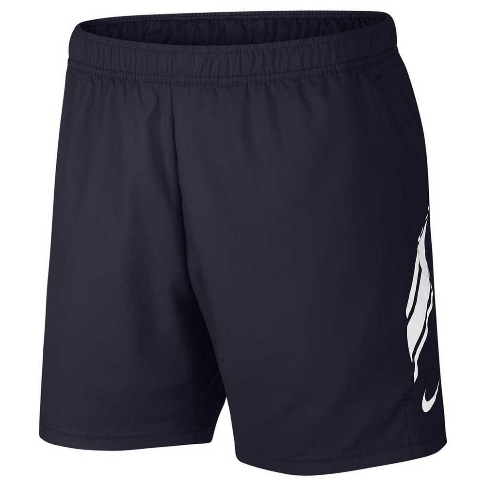 Nike Court Dri Fit 7´´ XS Obsidian / White / White