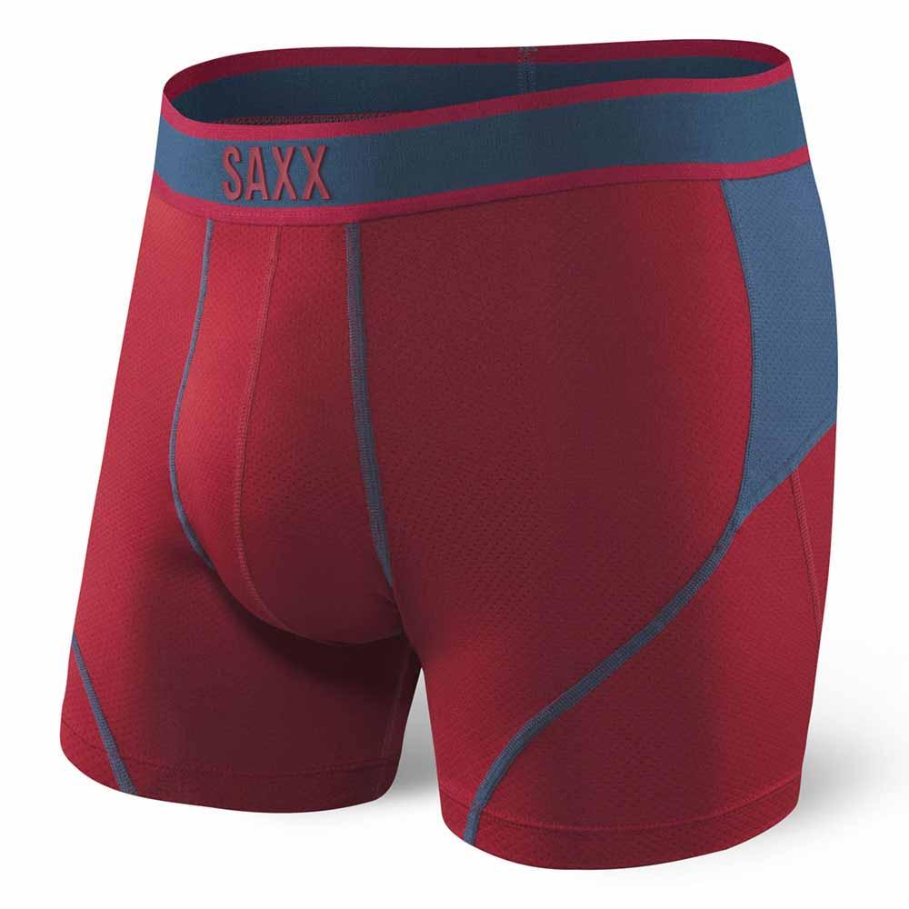 Saxx Underwear Kinetic Boxer S Deep Red/Blue