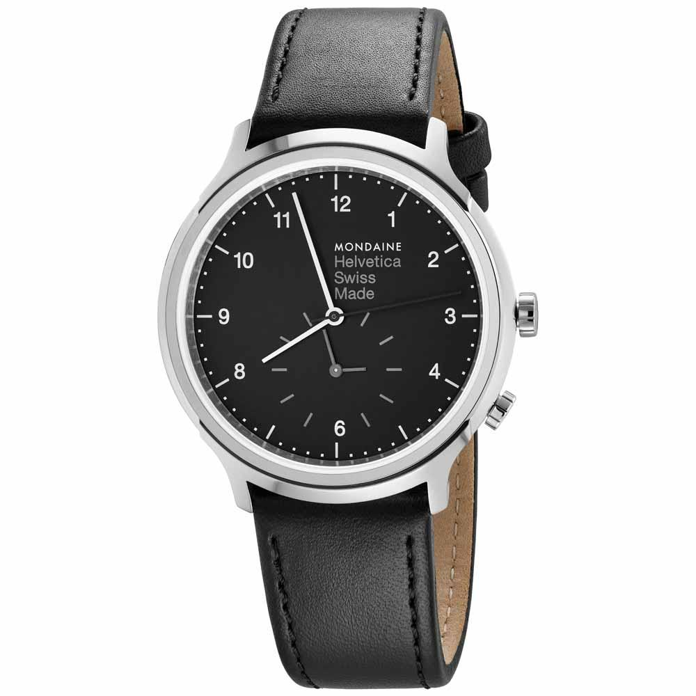 mondaine-helvetica-no1-regular-2nd-time-zone-40-mm-black-black-leather