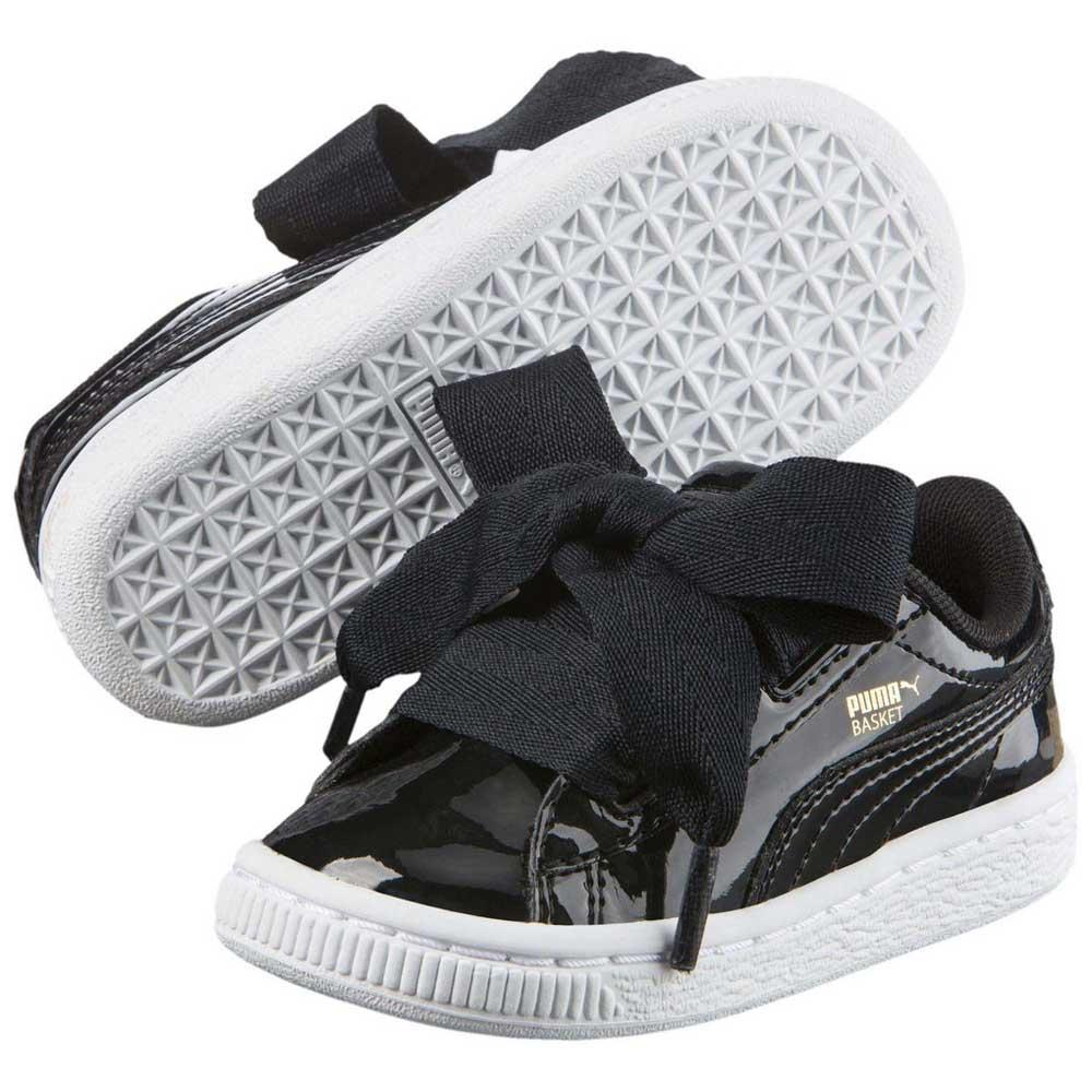 the latest 8c818 2ad5b Puma-Select-Basket-Heart-Patent-Infant-Black-Sneakers-