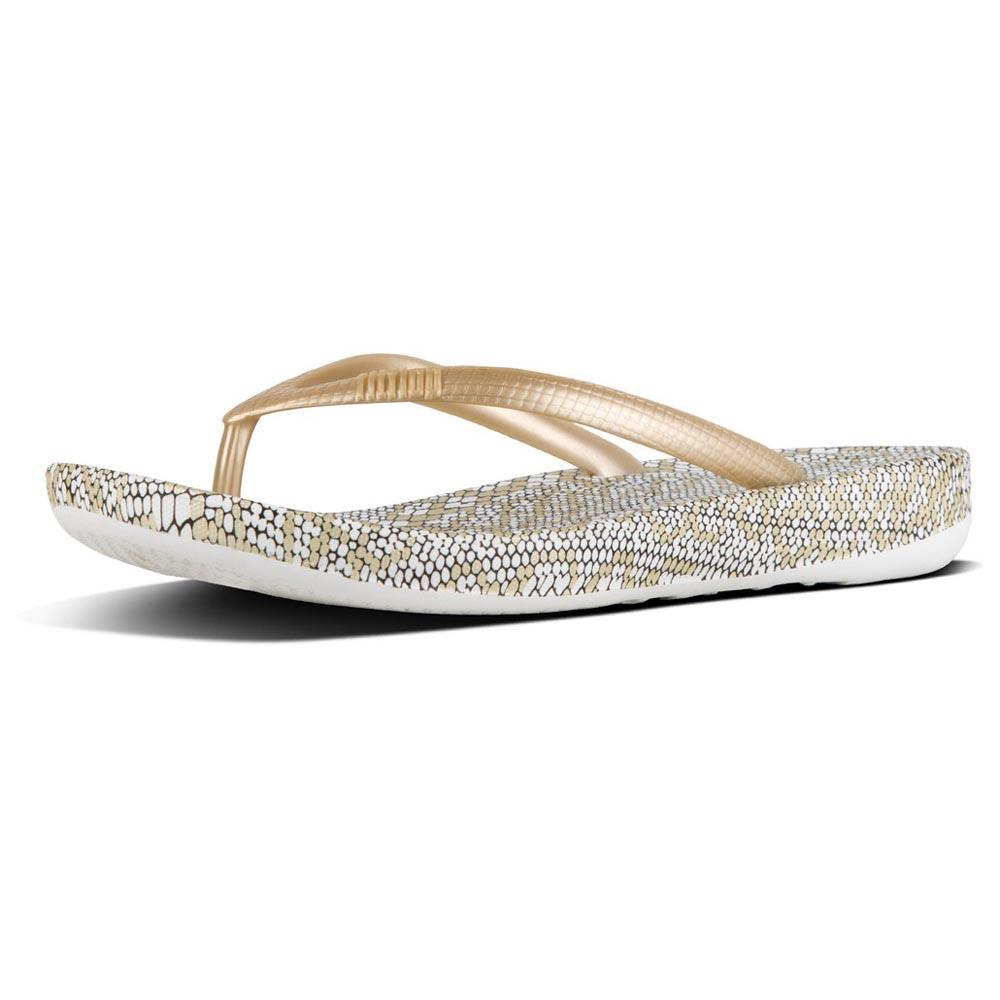 dac9ebca7a2804 Fitflop Iqushion Snakeprint Gold Mix