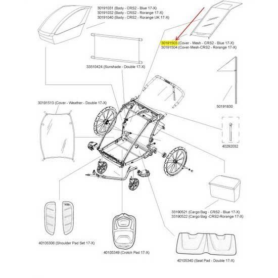 Thule Cover Mesh Crs2 MulticolouROT , , Zubehör Thule , MulticolouROT radfahren , Träger 64e1eb