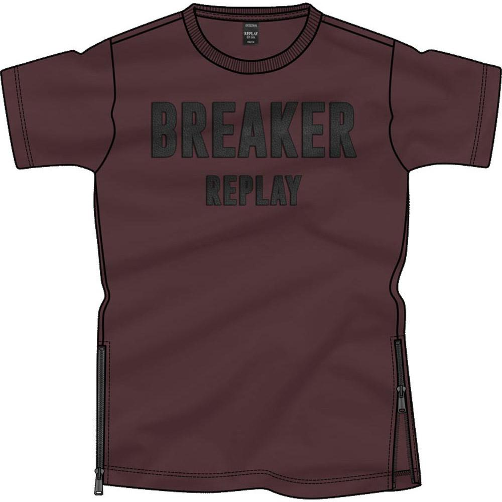 Replay M3629 Bordeaux , T-Shirts Replay , mode , Herrenkleidung