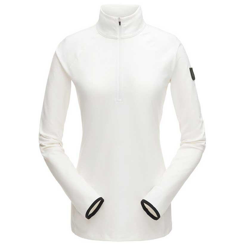 spyder-unyte-zip-t-neck-l-white