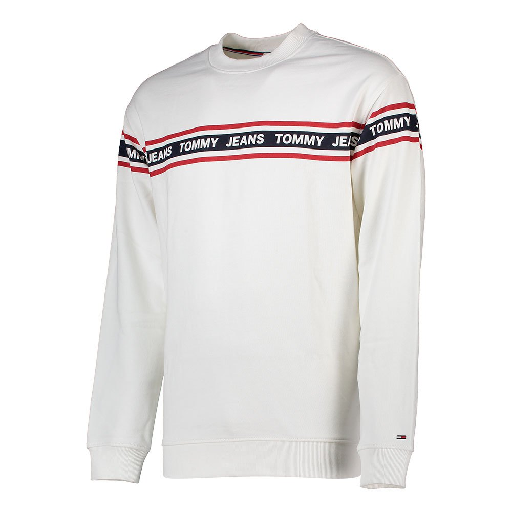 Tommy Jeans Tape Crew Classic Weiß , Pullover Tommy jeans , mode