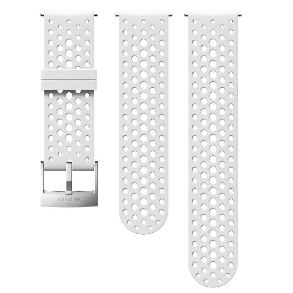 Suunto Athletic 1 Silicone Strap One Size White / Steel