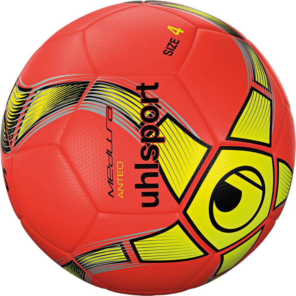 Uhlsport Medusa Anteo Indoor Football Ball 4 Fluo Red / Fluo Yellow / Black
